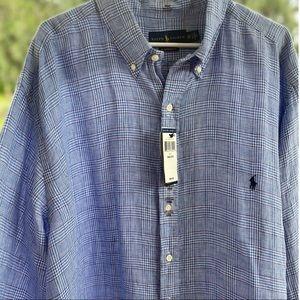 NWT Men's Polo Ralph Lauren Long Sleeve Button 2XB